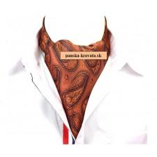 Pánska šatka do saka oranžová vzorovaná