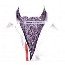Pánska šatka do saka fialová vzorovaná