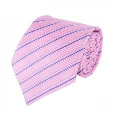 KLASIK kravata ružovo-pásikavá
