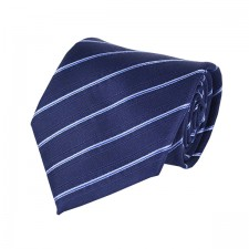 KLASIK kravata modrá pásikavá