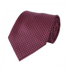 KLASIK kravata bordová kocková