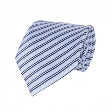 KLASIK kravata bledo-modrá pásikavá