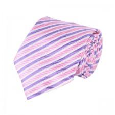 KLASIK kravata ružovo-fialová