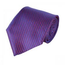 KLASIK kravata fialová pásikavá