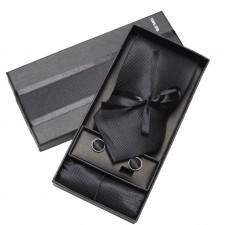 Kravatový set Čierny