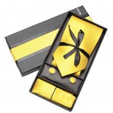 Kravatový set žltý