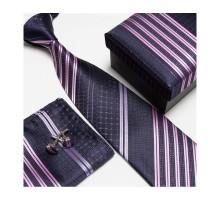 Kravatový set so vzorom modro-fialový