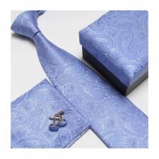 Kravatový set so vzorom modrý