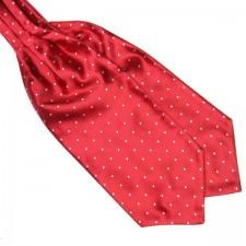 Pánska šatka do saka červeno - biela