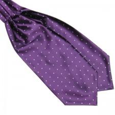 Pánska šatka do saka fialovo - biela