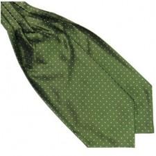 Pánska šatka do saka zeleno - biela