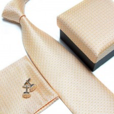 Kravatový set so vzorom zlatý