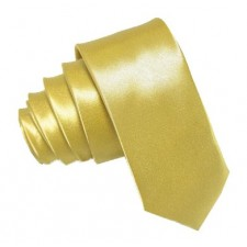 SLIM kravata svetlo žltá